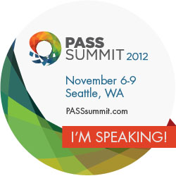 Session at PASS Summit 2012